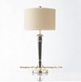 metal crystal table lamp, hotel guest