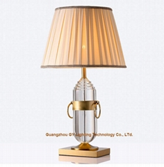 new crystal table lamp, hotel guest room table lamp, table lamp for living room