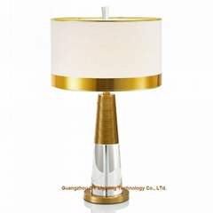 crystal table lamp, hotel guest room table lamp, table lamp for living room