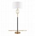 contemporary metal crystal floor lamp