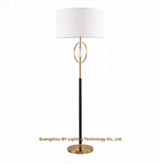contemporary metal crystal floor lamp for hotel, living room, villa and casino