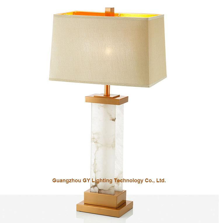 popular marble table lamps for hotels, real estate sample rooms, home furnishing 1