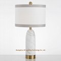chic marble table lamps for hotels, real