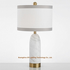 chic marble table lamps for hotels, real estate sample rooms, home furnishing