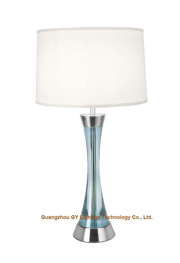 GY lighting transparent poly table lamp desk lamp with hardback fabric shades 2