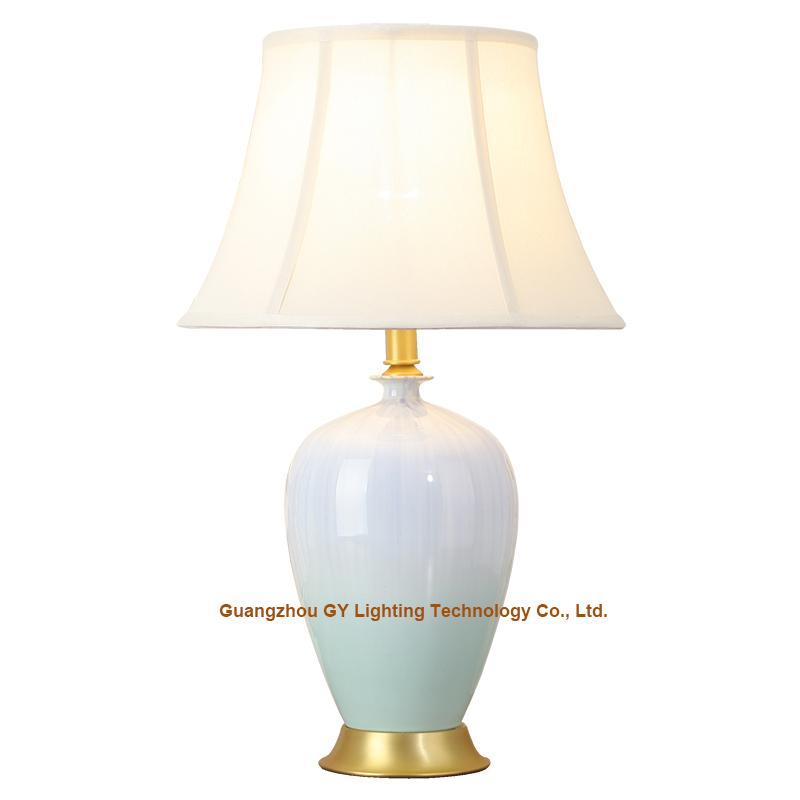 GY lighting porcelain ceramic table lamp desk lamps w/ empire lampshades 1