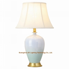 GY lighting porcelain ceramic table lamp desk lamps w/ empire lampshades