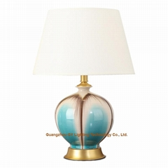 fashion GY lighting porcelain ceramic table lamp desk lamps w/ empire lampshades