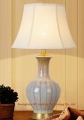 hand made porcelain ceramic table lamps for living room, bedroom and offices