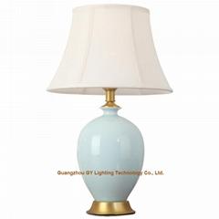 popular handmade porcelain table and desk lamps for living room, bedroom, office