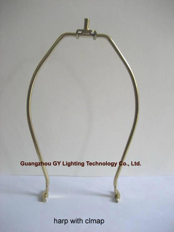 custom lampshade harp with clamp, clamp in cup lamp harp lamp parts 1