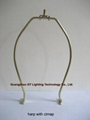 custom lampshade harp with clamp, gy