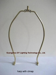 custom lampshade harp with clamp, clamp