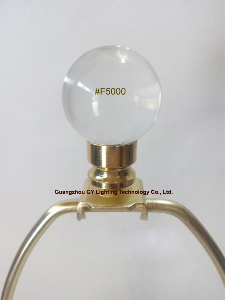 crystal lamp finials with brass plated metal finial base fm GY lighting