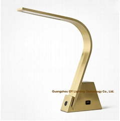 LED reading lamps desk lamps office lamps with USB port and touch switch