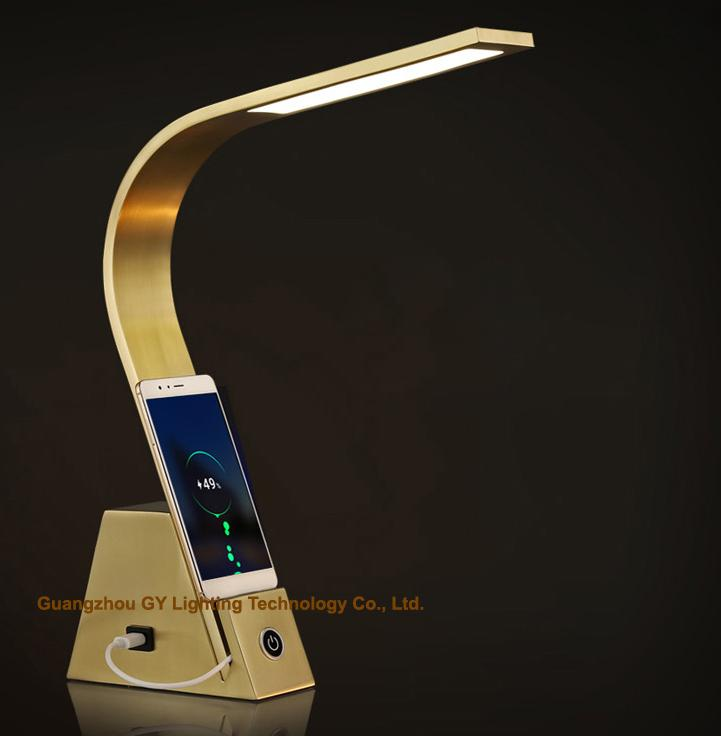 LED reading lamps desk lamps office lamps with USB port and touch switch 2