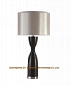 chic wood table lamp, wooden table lamp for hotel, bedroom, living room