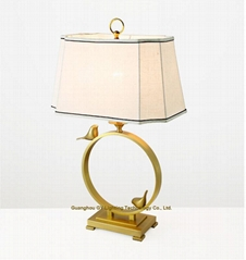 modern copper table lamp