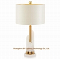 marble table lights lamps for hotels,