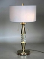 crystal table lamp, hotel table lamp,