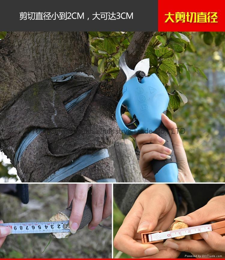 新款電動果樹剪刀電動剪枝剪園林修剪機 6