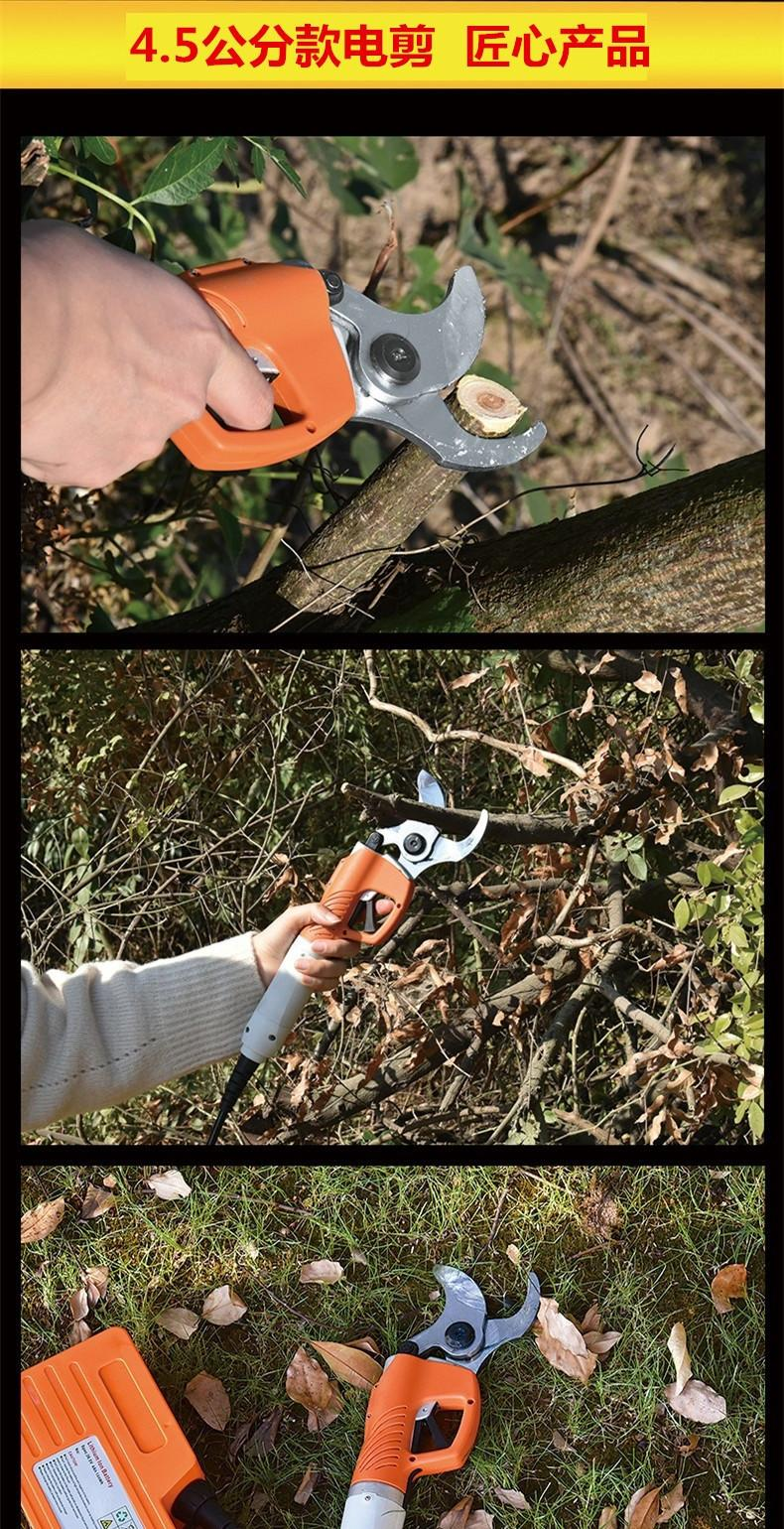 Electric pruning shears garden electric secateurs orchard electric scissors 4