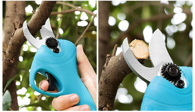 New 2.5 cm Electric pruner and electric pruning shear for garden with CE 18