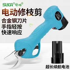 New 2.5 cm Electric pruner and electric pruning shear for garden with CE
