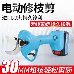無線電動剪枝機充電式修枝剪鋰電剪枝剪果樹高枝電剪子粗枝剪