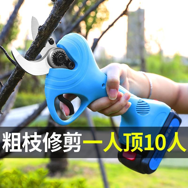 无线电动剪枝机充电式修枝剪锂电剪枝剪果树高枝电剪子粗枝剪 2