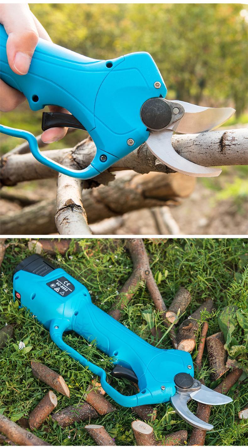 舒畅果树电动修枝剪,锂电剪刀,充电树枝剪,电动剪刀 19