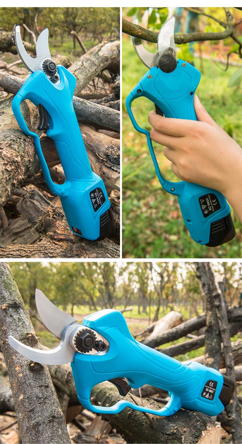 舒畅果树电动修枝剪,锂电剪刀,充电树枝剪,电动剪刀 20