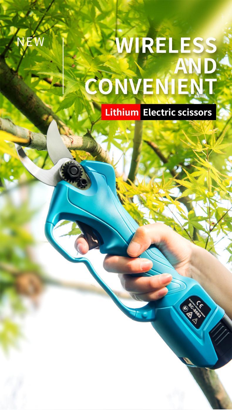 舒畅果树电动修枝剪,锂电剪刀,充电树枝剪,电动剪刀 6