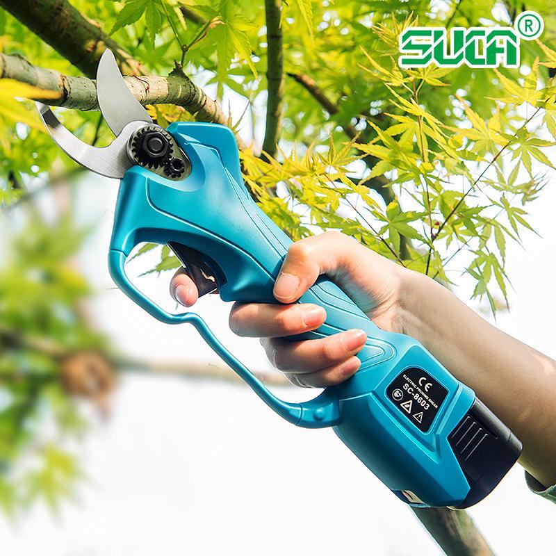 舒畅果树电动修枝剪,锂电剪刀,充电树枝剪,电动剪刀 2