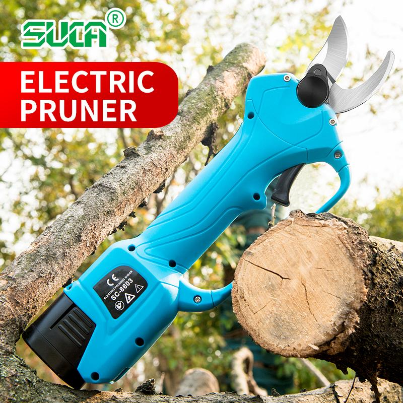 Battery operated tree branch cutter, electric topiary hand pruners shear 2