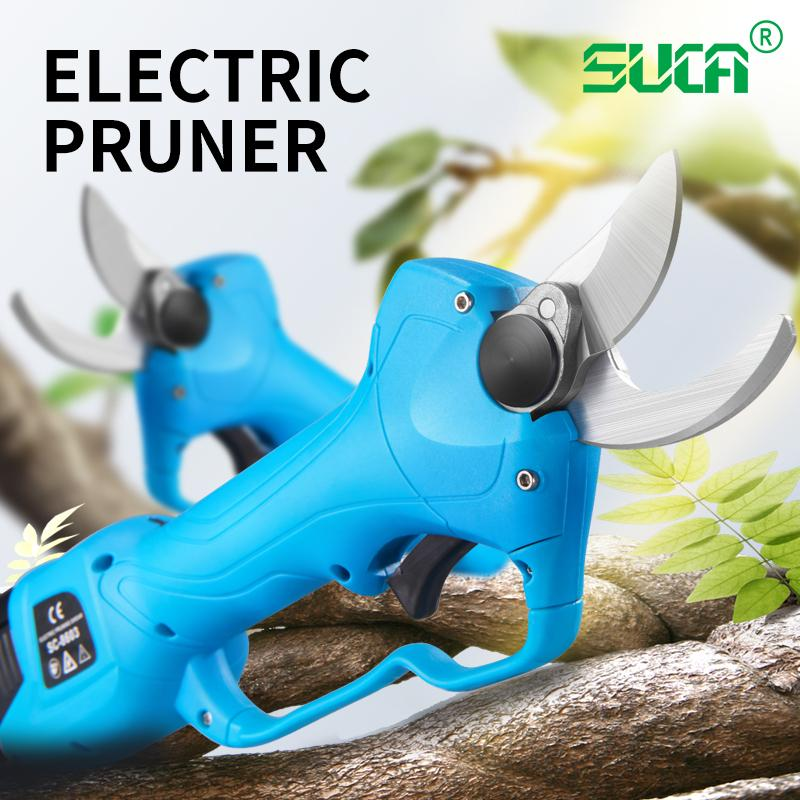 Battery operated tree branch cutter, electric topiary hand pruners shear 1