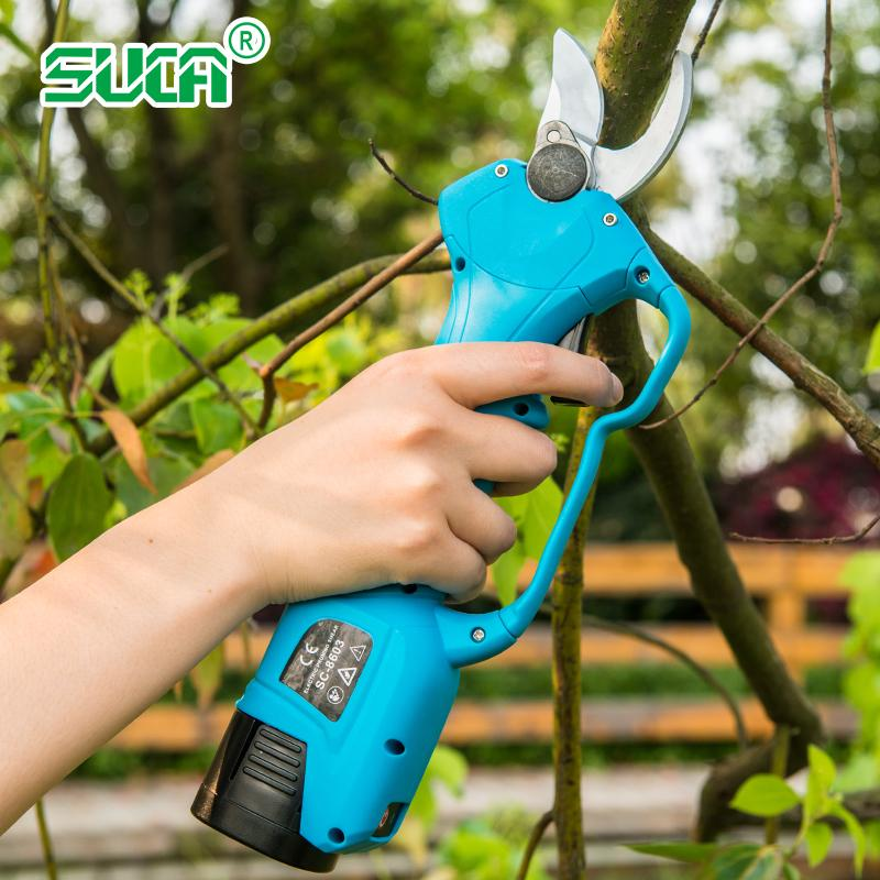Battery operated tree branch cutter, electric topiary hand pruners shear 7