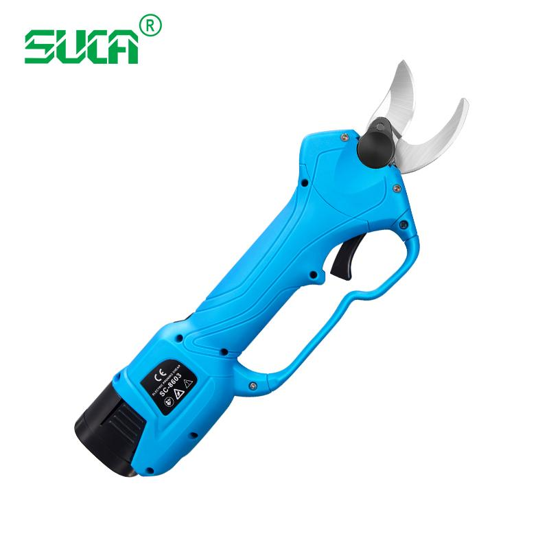 Battery operated tree branch cutter, electric topiary hand pruners shear 8