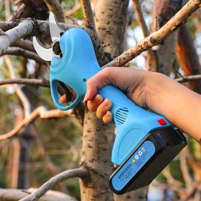 新款舒暢21V電剪電動果樹剪果樹修枝剪鋰電園林剪充電剪     3