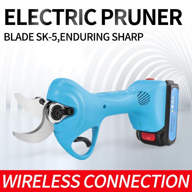 新款舒暢21V電剪電動果樹剪果樹修枝剪鋰電園林剪充電剪     6