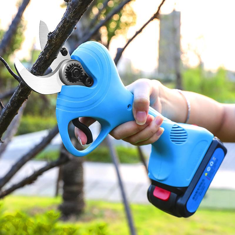 新款舒畅21V电剪电动果树剪果树修枝剪锂电园林剪充电剪     8