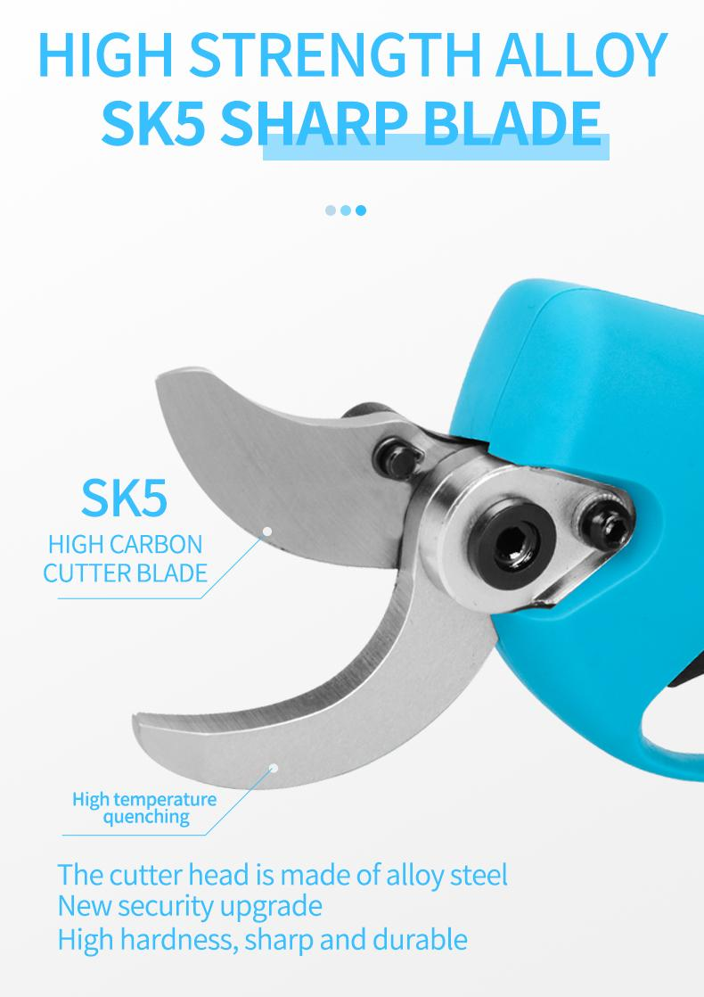SUCA Electric Pruning Shears, Power  Pruner with Lithium Battery 13