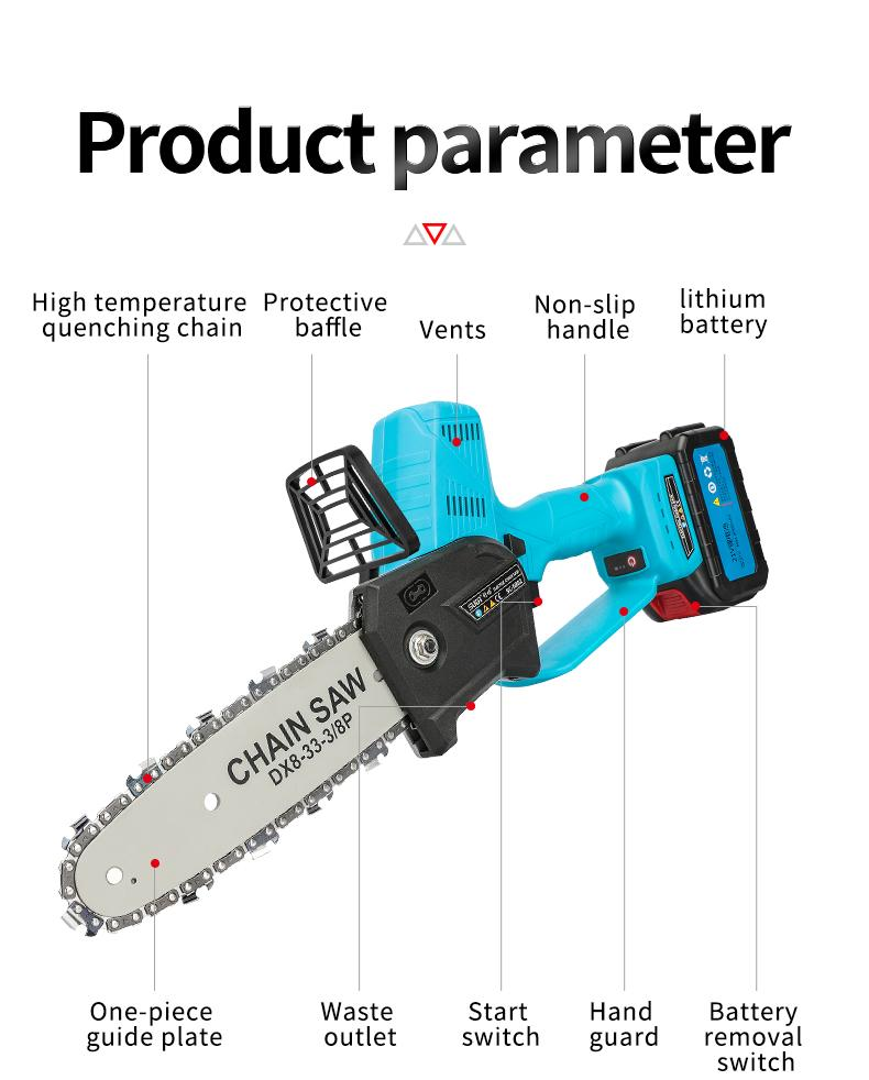 Electric chainsaw,Mini Chainsaws,battery powered chainsaw,Electric pruning saw 8