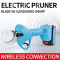 Pruning shears electric portable