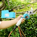 Cordless rechargeable power pruner