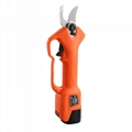 Electric pruner with pole