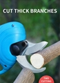 Battery operated hand pruners