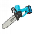 Battery powered pole chainsaw