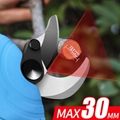 Electric pruning shears cordless