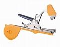 Hand tying machine tape tool